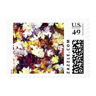 Temporada de otoño de los sellos de las hojas de o