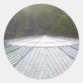 Temporal de lluvia - Monte Carlo Etiqueta Redonda