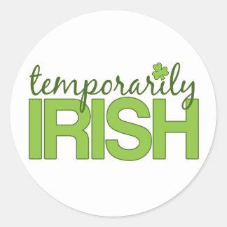 Temporarily Irish Classic Round Sticker