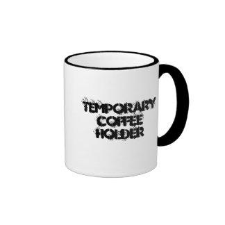 Temporary Coffee Holder Colored Handle Mug