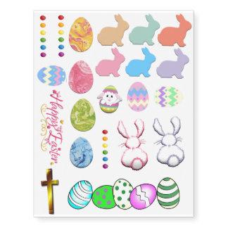 Temporary Easter Tattoos Sheet