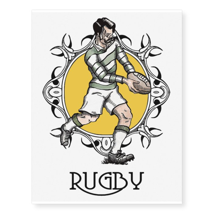 Temporary Rugby Tattoo Zazzle Com