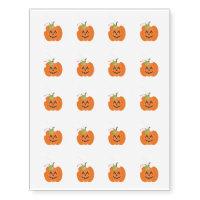Temporary Tattoo Sheet-Halloween Ghost/Pumpkin