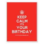 [Cupcake] keep calm its your birthday  Temporary Tattoos