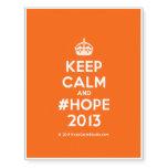 [Crown] keep calm and #hope 2013  Temporary Tattoos