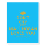 [Two hearts] don't cry coz niall horan loves you  Temporary Tattoos