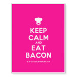 [Chef hat] keep calm and eat bacon  Temporary Tattoos
