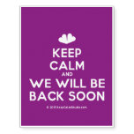 [Two hearts] keep calm and we will be back soon  Temporary Tattoos