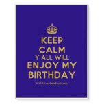 [Crown] keep calm y'all will enjoy my birthday  Temporary Tattoos