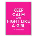 keep calm and fight like a girl  Temporary Tattoos