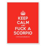 [Crown] keep calm and fuck a scorpio  Temporary Tattoos