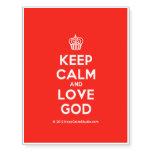 [Cupcake] keep calm and love god  Temporary Tattoos