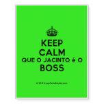 [Crown] keep calm que o jacinto é o boss  Temporary Tattoos