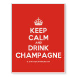 [Crown] keep calm and drink champagne  Temporary Tattoos