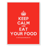 [Crown] keep calm and eat your food  Temporary Tattoos