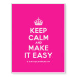 [Crown] keep calm and make it easy  Temporary Tattoos