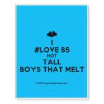 [Two hearts] i #love b5 hot tall boys that melt  Temporary Tattoos