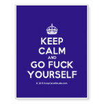 [Crown] keep calm and go fuck yourself  Temporary Tattoos