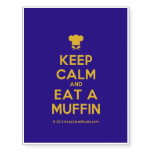 [Chef hat] keep calm and eat a muffin  Temporary Tattoos