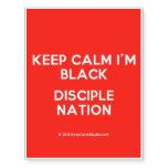 keep calm i'm black disciple nation  Temporary Tattoos