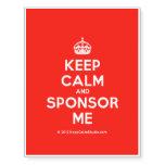 [Crown] keep calm and sponsor me  Temporary Tattoos