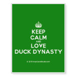 [Crown] keep calm and love duck dynasty  Temporary Tattoos