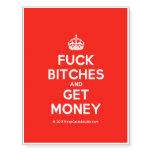 [Crown] fuck bitches and get money  Temporary Tattoos