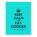 [Crown] keep calm and eat cookies  Temporary Tattoos