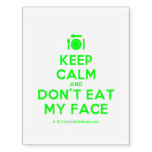 [Cutlery and plate] keep calm and don't eat my face  Temporary Tattoos (no background)