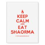 [Campfire] keep calm and eat shaorma  Temporary Tattoos (no background)