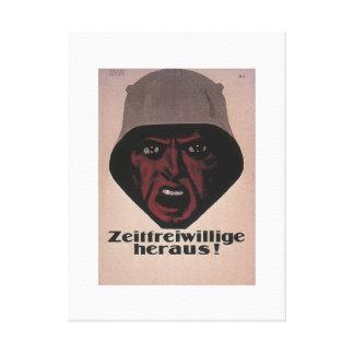 Temporary volunteers, let's go_Propaganda Poster Canvas Print