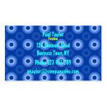 Temporeros azules de la tarjeta de visita de
