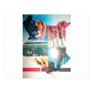 Temporeros horizontales de la postal de Jambo Keni