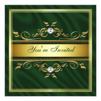 Temporeros verde oscuro de la invitación de la sed