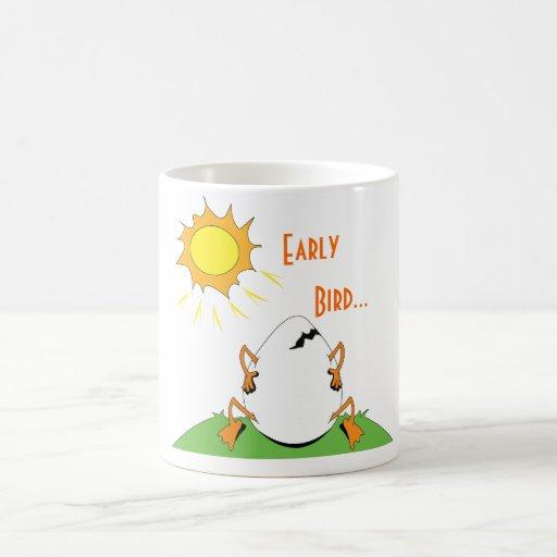 Temprano, pájaro… tazas de café