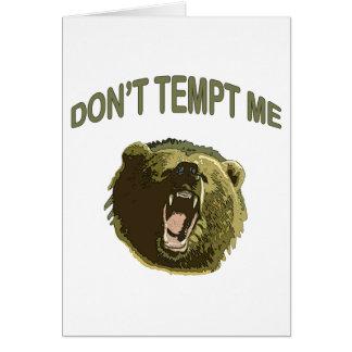 Tempt Me Bear Card