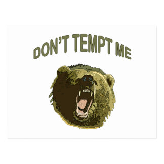 Tempt Me Bear Postcard