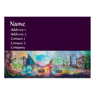 TEMPTATION black blue brown pink Business Card
