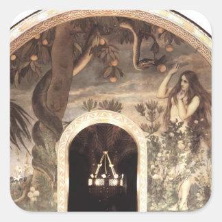 Temptation by Odilon Redon Square Sticker