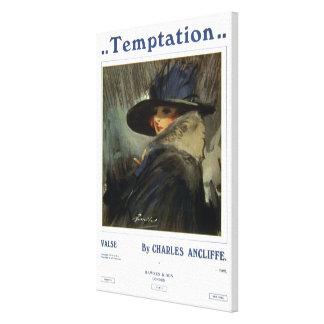 Temptation Stretched Canvas Print