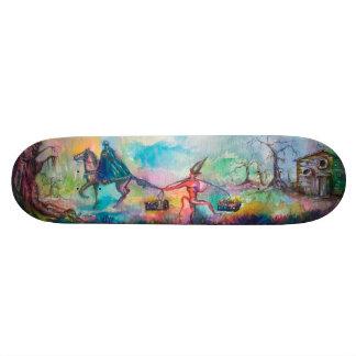 TEMPTATION Dark Knight and Devil's Treasure ,Blue Skateboard