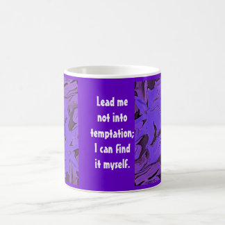 temptation humor coffee mug