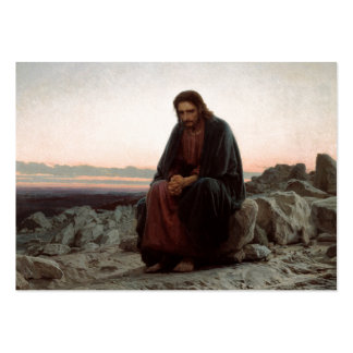 Temptation of Christ Large Business Cards (Pack Of 100)