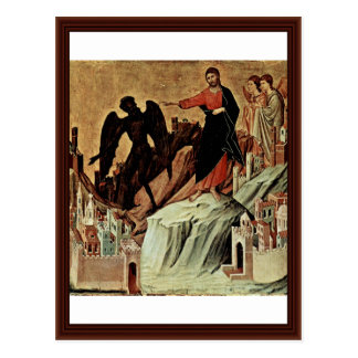 Temptation Of Christ On The Mountain Post Card