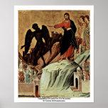 Temptation Of Christ On The Mountain Print
