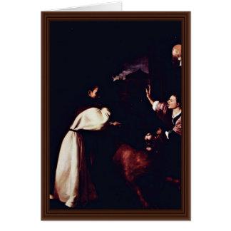 Temptation Of Fra Diego De Orgaz Greeting Card