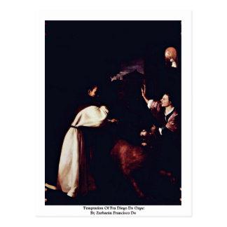 Temptation Of Fra Diego De Orgaz Postcard