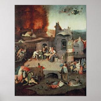 Temptation of Saint Anthony, c.1500 Poster