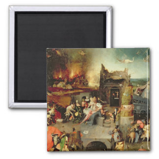 Temptation of St. Anthony 2 Inch Square Magnet