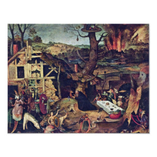 Temptation Of St. Anthony By Huys Peeter 4.25x5.5 Paper Invitation Card